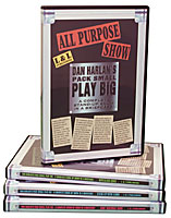Dan Harlan's Pack Small  Play Big 1- 4 DVD Set