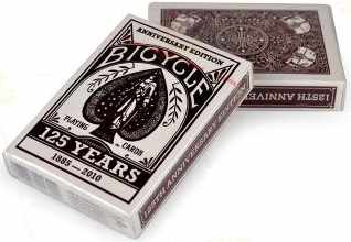Bicycle Deck 125th Anniversary Edition Burgundy