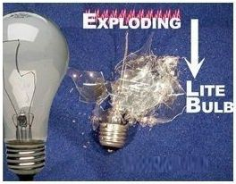 Exploding Light Bulb Mentalism Magic