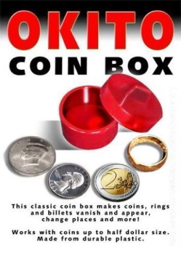Okito Coin Box Set of Two 1-Red and 1-Transparent