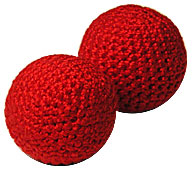 "1.75"" Crochet Balls (Red) by Uday"