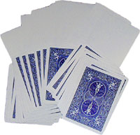 Blank Face Bicycle Cards Blue Back x 5